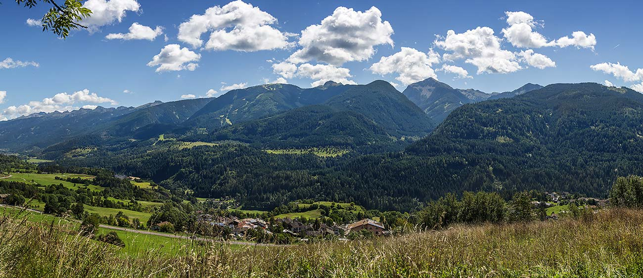 One of the countries of the Val di Fiemme, surrounded by beautiful mountains
