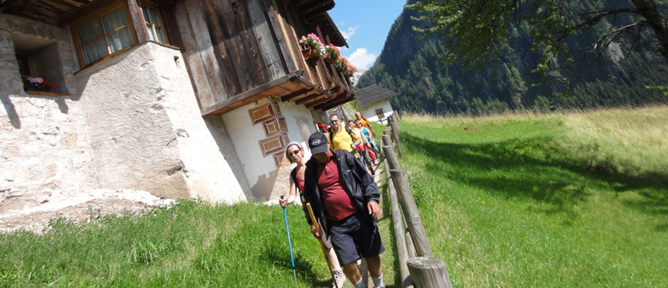A group of wanderer in the Val di Fiemme
